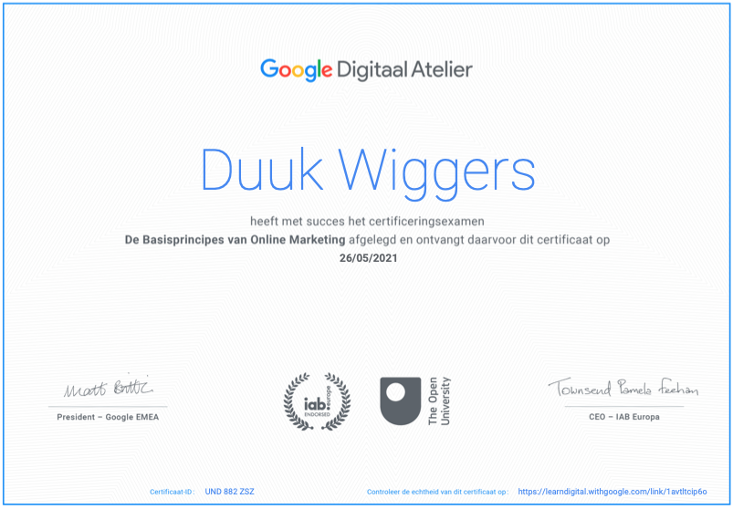 Google certificering, Bulldata.nl, google, website laten maken,